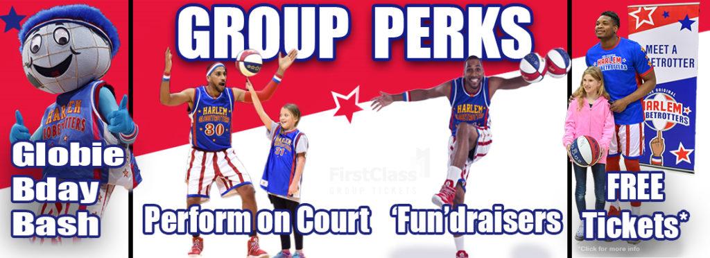 Harlem Globetrotters Group Perks