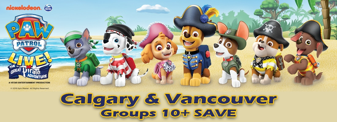 FirstClass Group Tickets PAW Patrol Live! The Great Pitare Adventure in Calgary and Vancouver January 2020