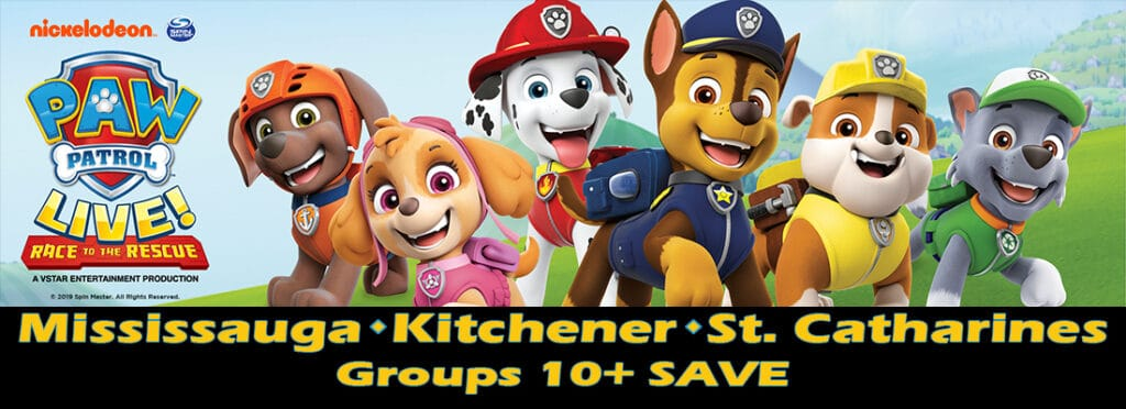 FirstClass Group Tickets PAW Patrol Live Race to the Rescue Announcement in Mississauga, Kitchener, and St.Catherines Ontario Nov- Dec 2019