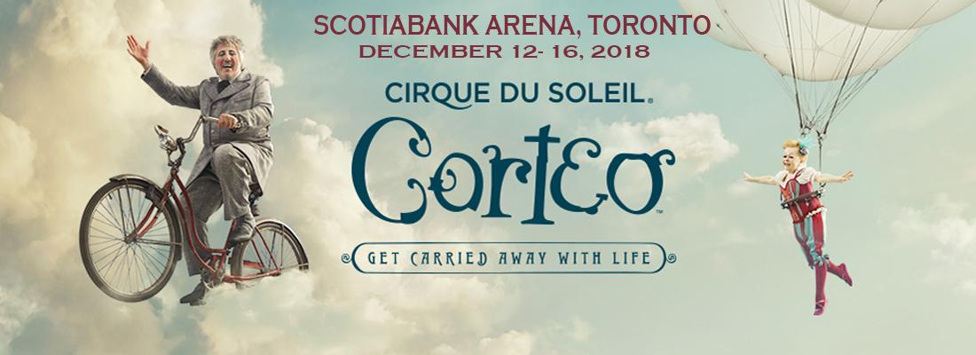Cirque Du Soliel Corteo December 12-16 Scotiabank Arena (formely Air Canada Centre)