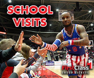 Harlem Globetrotters School Visit and Anti-Bullying Program in partnership with FirstClass Group Tickets