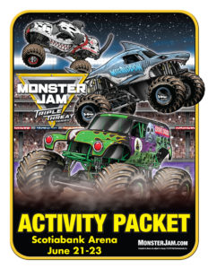 Monster Jam Activity Kit Page 1 Scotiabank Arena FirstClass Group Tickets
