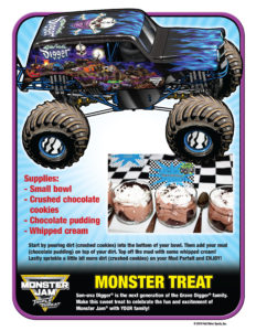 Monster Jam Activity Kit Page 12 Dessert Recipe Scotiabank Arena FirstClass Group Tickets