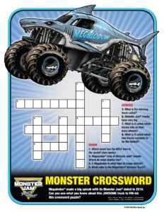 Monster Jam Activity Kit Page 3 Crossword Puzzle Scotiabank Arena FirstClass Group Tickets