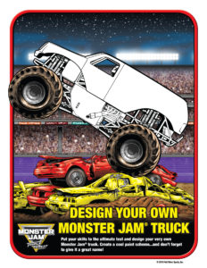 Monster Jam Activity Kit Page 5 Colouring Page Scotiabank Arena FirstClass Group Tickets