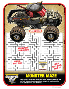 Monster Jam Activity Kit Page 7 Visual Maze Scotiabank Arena FirstClass Group Tickets
