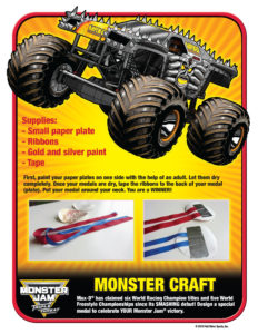 Monster Jam Activity Kit Page 8 Streamers Monster Trucks Scotiabank Arena FirstClass Group Tickets