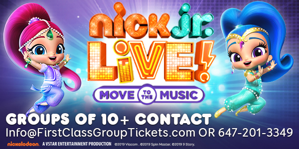 Save on tickets for Nick Jr Live! Toronto Meridian Hall February 15 - February 16, 2020