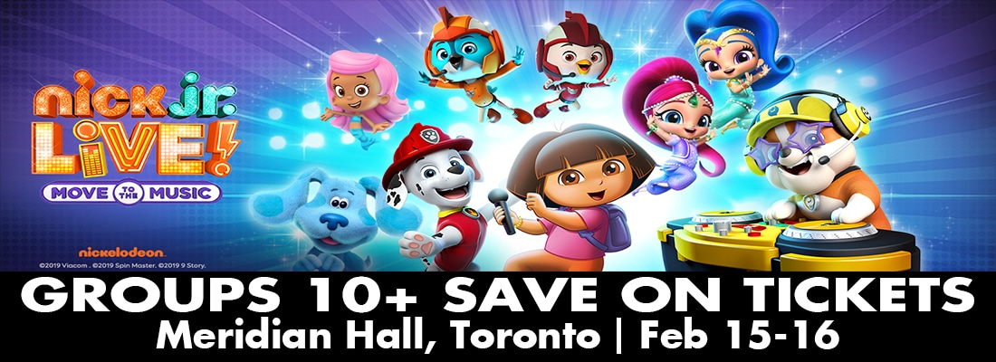 Save on tickets for Nick Jnr Live! in Toronto Meridian Hall February 15- 16, 2020