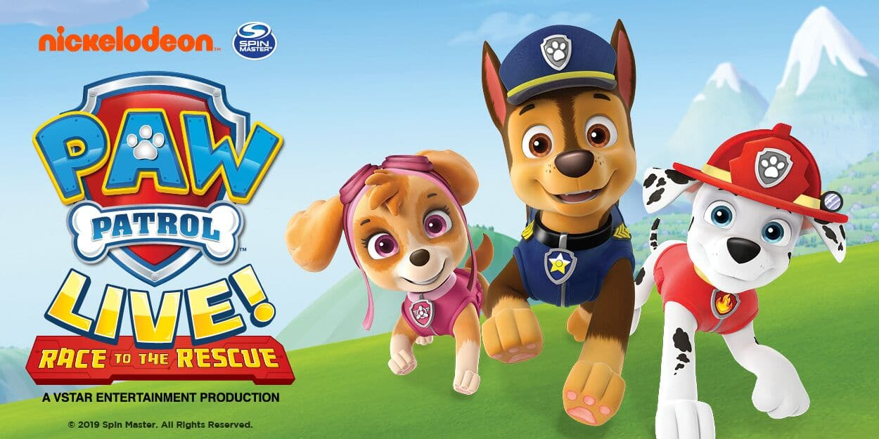 Discount group tickets for PAW Patrol Live! Race to the Rescue Nov - Dec, 2019