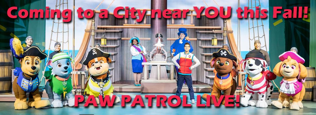 Paw Patrol Live! On Sale Now! Sudbury, Kingston, Windsor, Peterborough and Kitchener