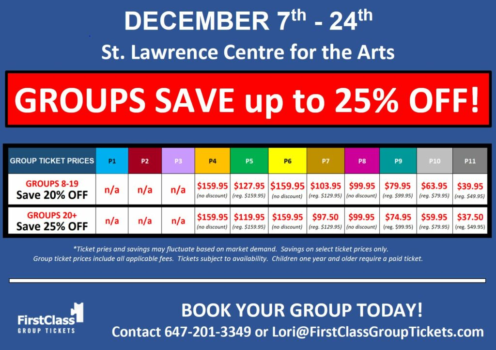 Ticket pricing chart for Bend it Like Beckham Toronto St. Lawrence Centre December 7 -24, 2019