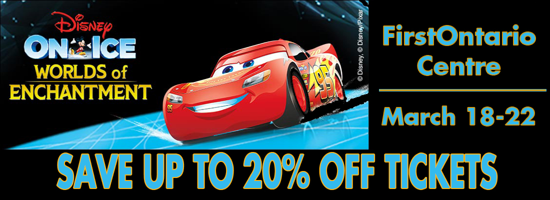 Save on tickets for Disney On Ice March 18-22, 2020 FirstOntario Centre Hamilton