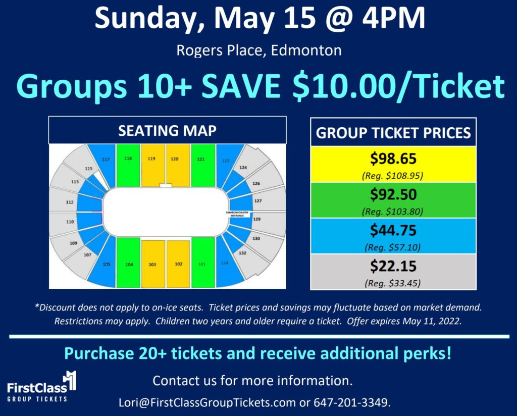 Stars on Ice pricing and seating matrix for Edmonton Rogers Place May 15 2022