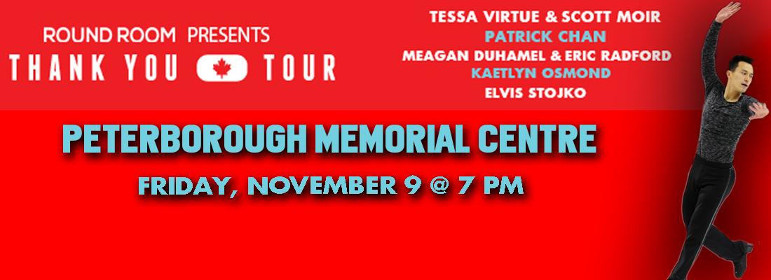 Thank You Canada Tour. November 9, 2018. Peterborough Memorial Centre