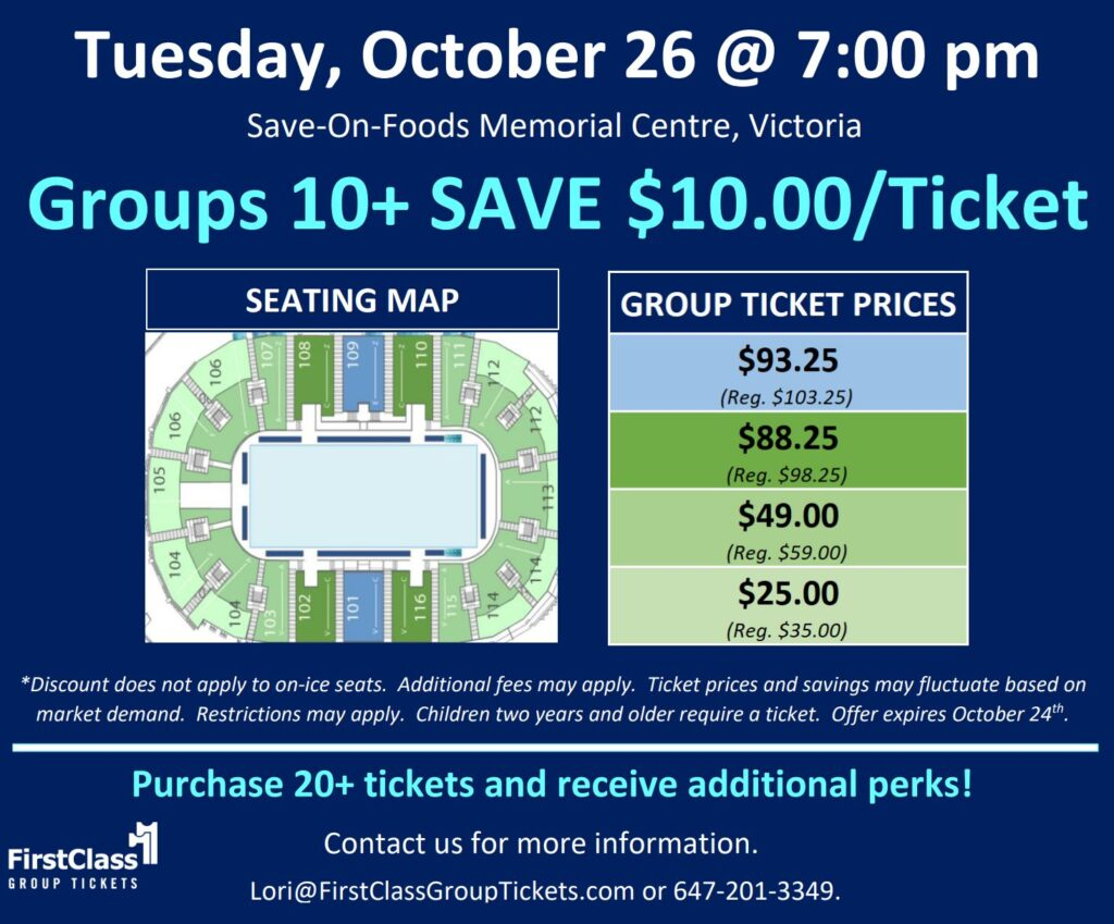 Ticket Pricing and Seating for Stars On Ice Victoria October 26 2021