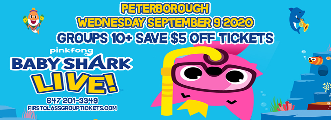Baby Shark tickets at the Peterborough Memorial Centre September 9, 2020 @ 2:00 pm