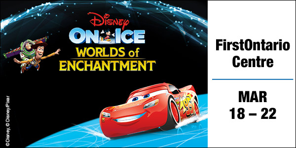 Save on Disney On Ice Worlds of Enchantment at the FirstOntario Centre, Hamilton March 19-22, 2020