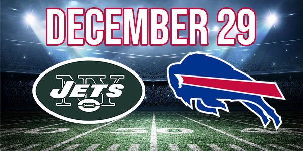 Direct purchase link for the Buffalo Bills NFL vs New York Jets. No Promo Code required.