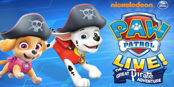 Group Tickets for PAW Patrol Live! The Great Pirate Adventure Calgary Jubilee Auditorium January 10-12, 2020